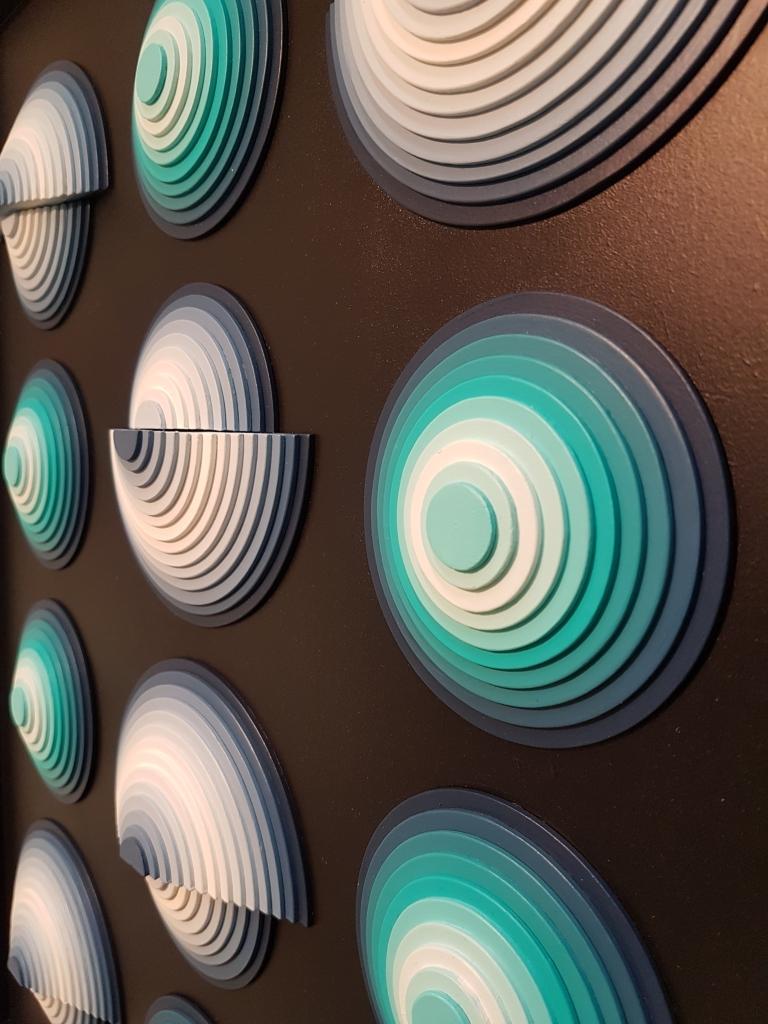 Spotlight 2 (Détail) - Acrylique et carton contrecollé sur MDF, 50X60 cm
