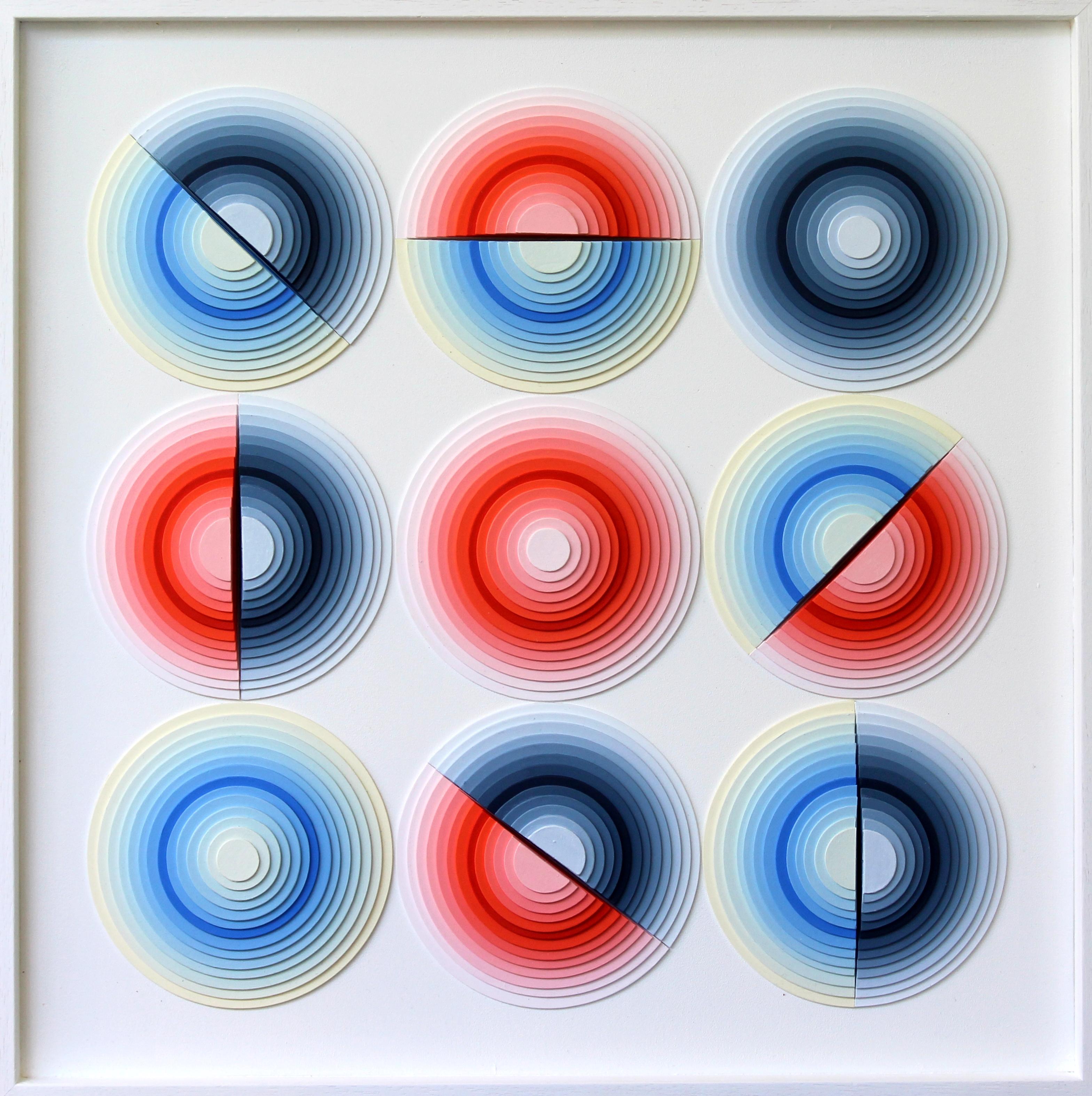 Rotations - Acrylique et carton contrecollé sur MDF, 50X50 cm