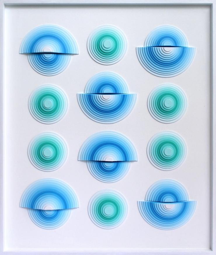 Variation III - Acrylique et carton contrecollé sur MDF, 54X64 cm