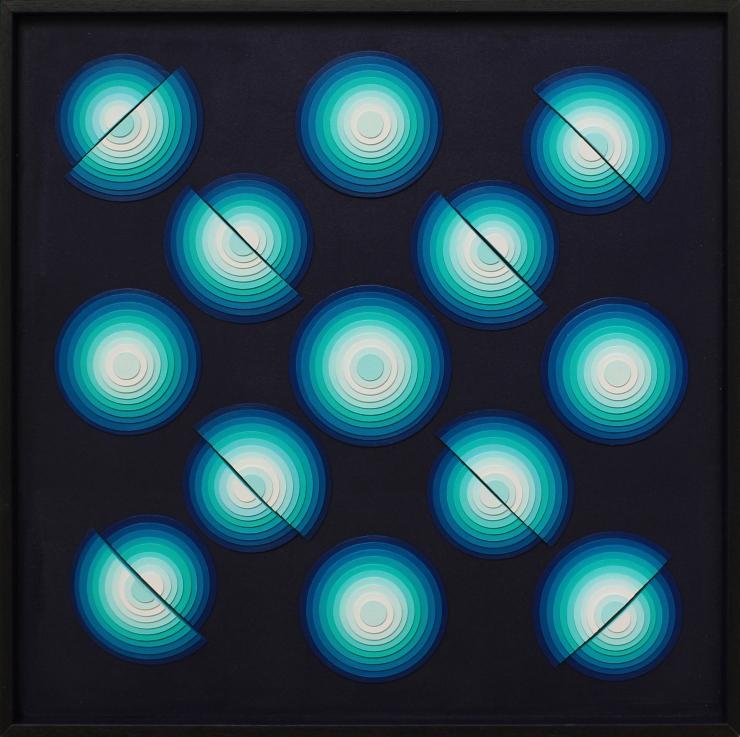 Spotlight VII - Acrylique et carton contrecollé sur MDF, 54x54cm
