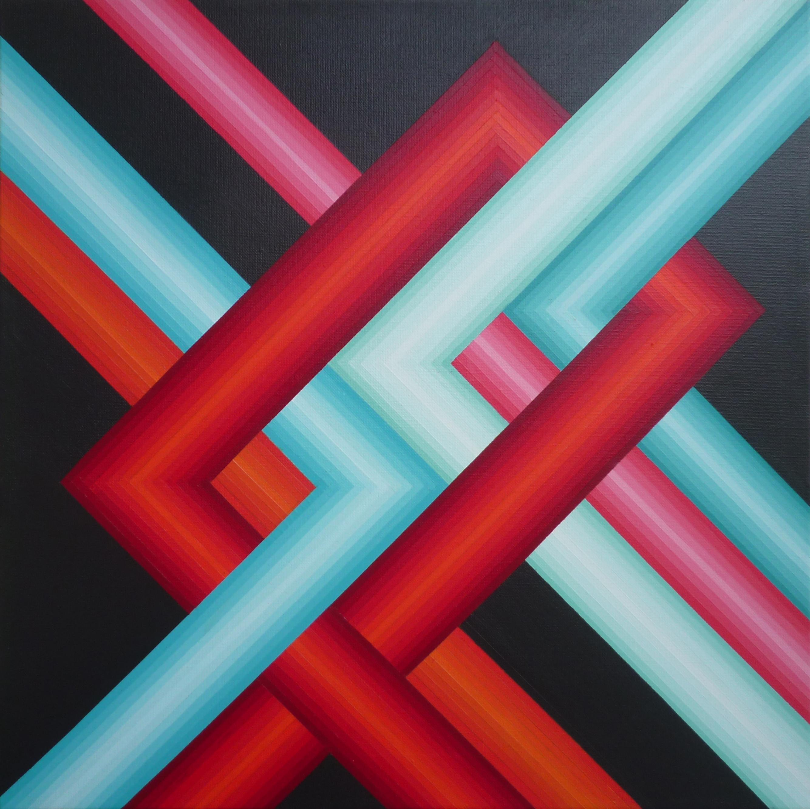 Réseau 4 - Acrylique sur toile 50X50 cm