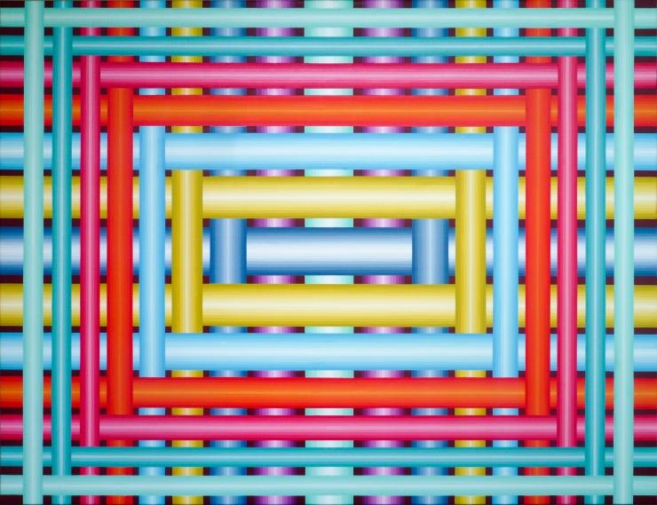 Réseau 6 - Acrylique sur toile 116X89 cm
