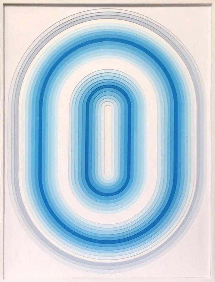 Sans Titre 2 - Acrylique et carton contrecollé sur MDF, 64X84 cm