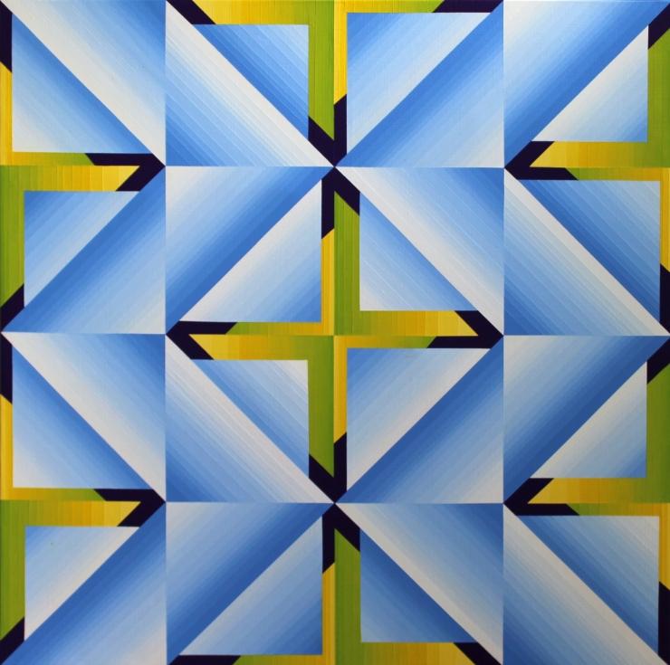 Structure chromatique 3 - Acrylique sur toile 80X80 cm