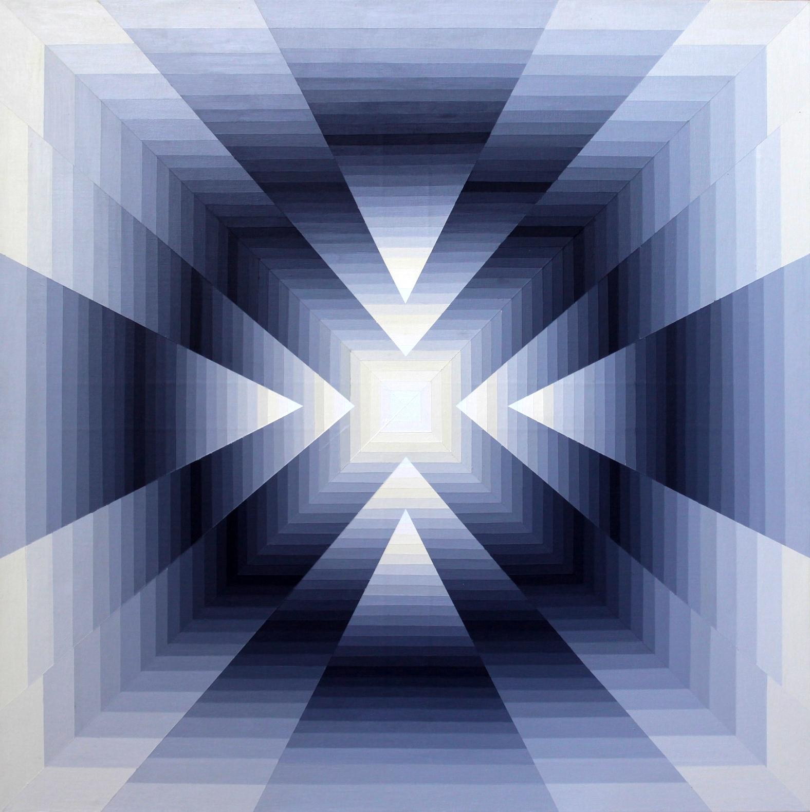 Vibration chromatique 3 - Acrylique sur toile 80X80cm