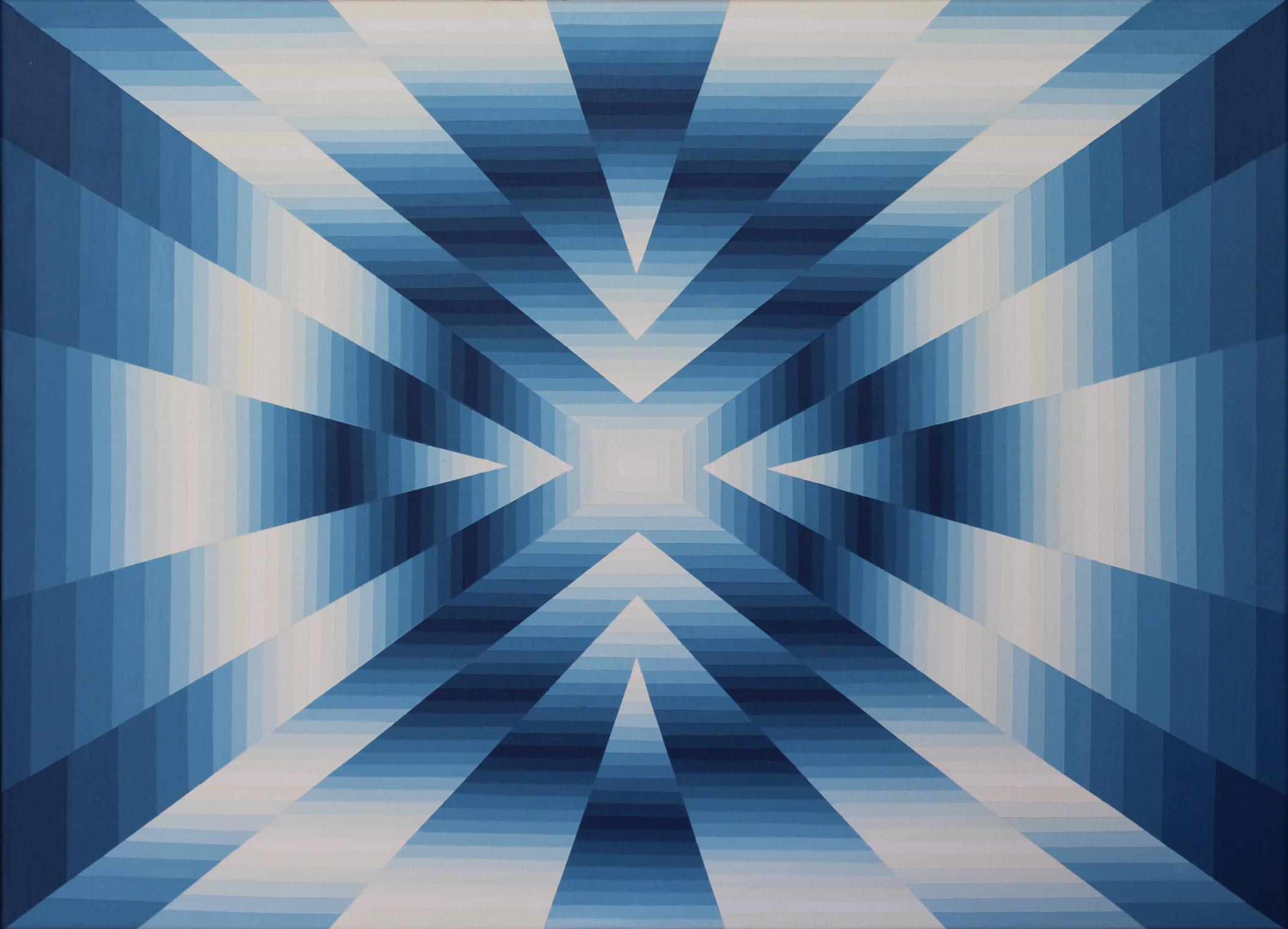 Vibration chromatique 4 - Acrylique sur toile 100X73 cm
