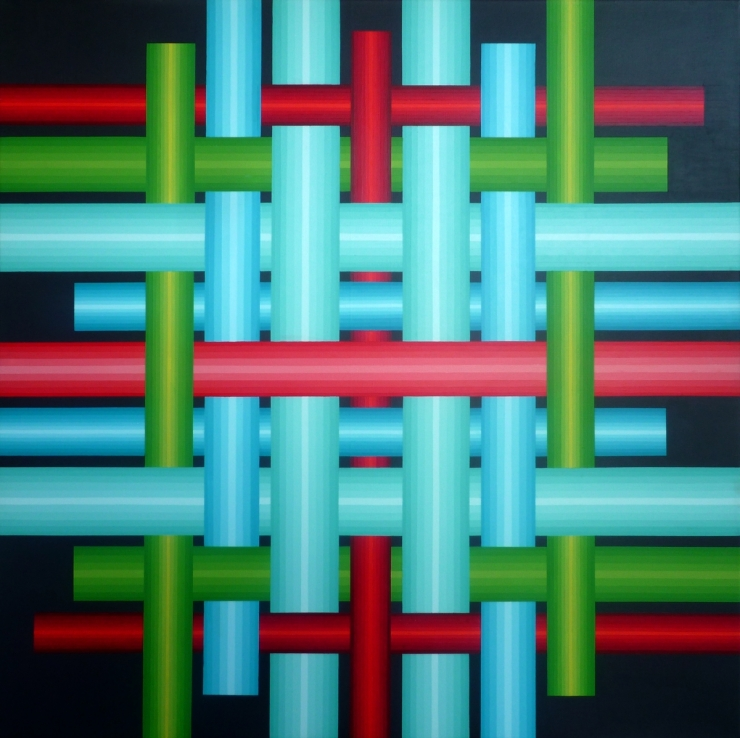 Réseau 1 - Acrylique sur toile 100X100 cm