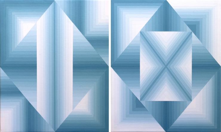Diptyque - Acrylique sur toile 38X46 cm