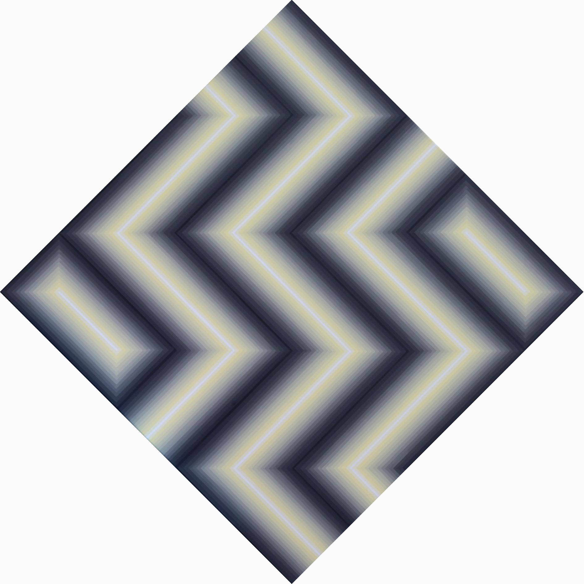 Vibration chromatique 1 - Acrylique sur toile 100X100 cm