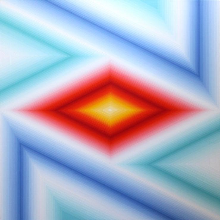 Vibration chromatique 6 - Acrylique sur toile 100X100 cm