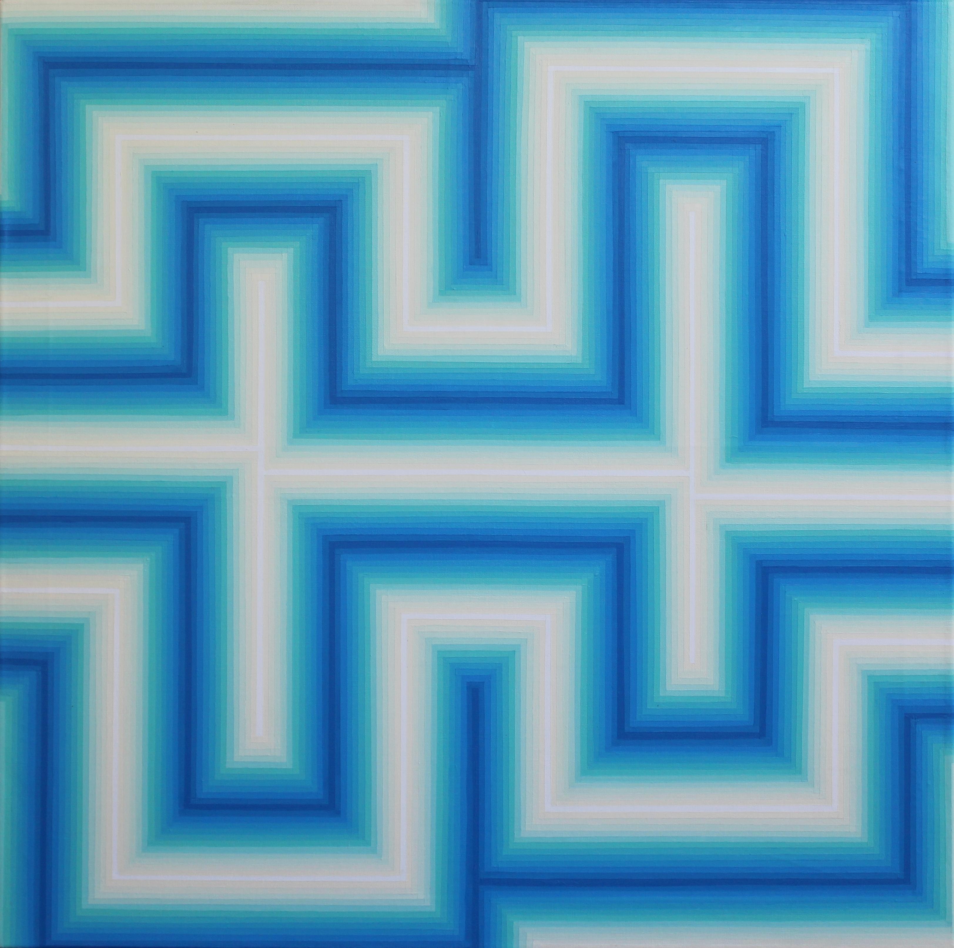 Vibration chromatique 5 - Acrylique sur toile 80X80 cm