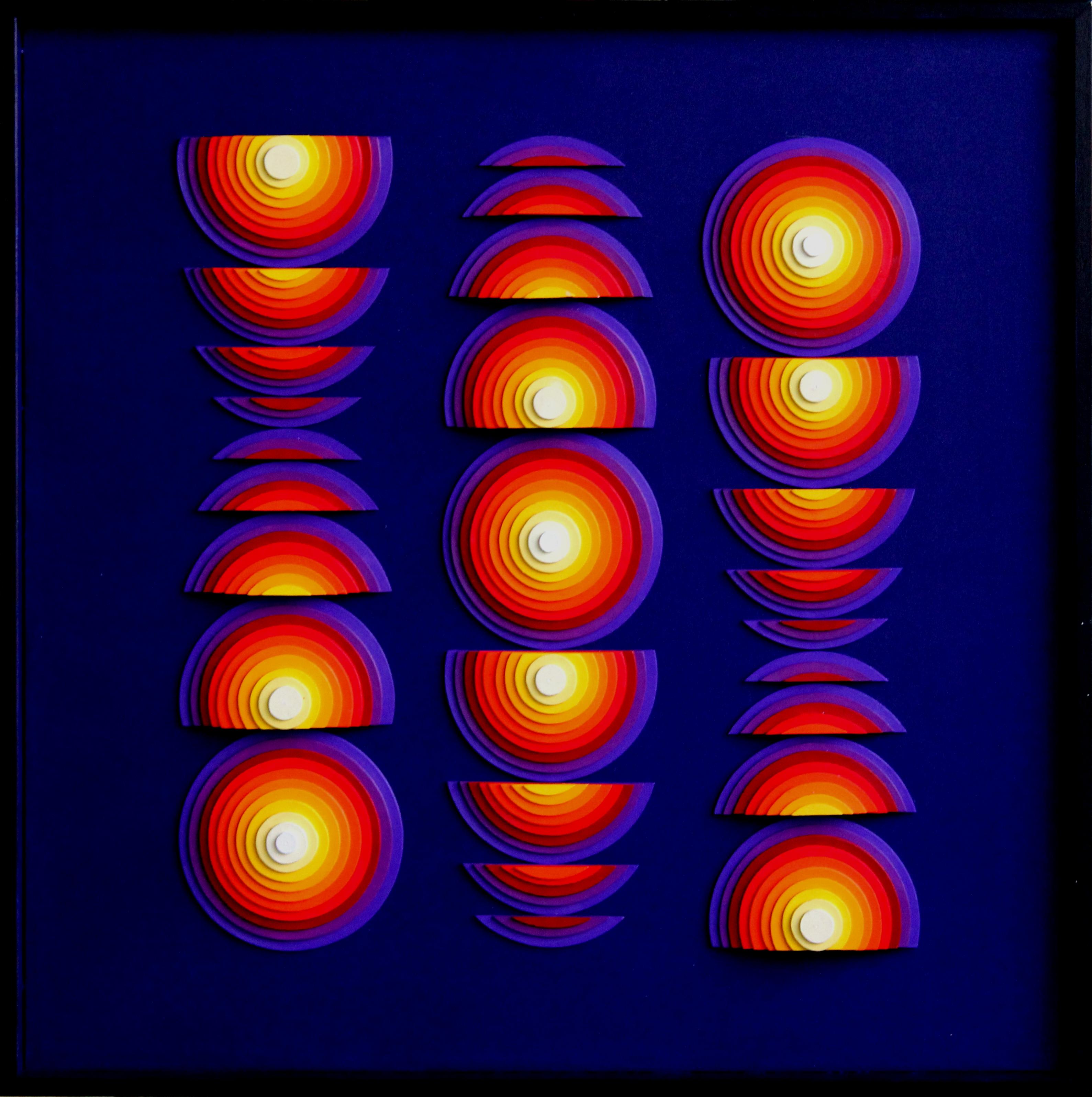Incandescence - Acrylique et carton contrecollé sur MDF, 50X50 cm