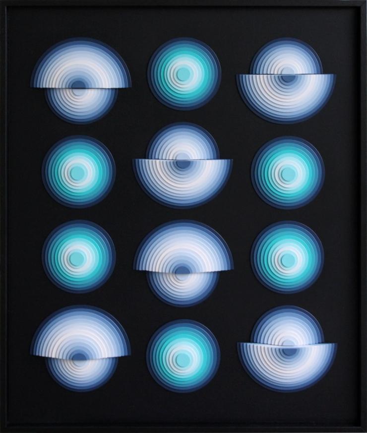 Spotlight 2 - Acrylique et carton contrecollé sur MDF, 50X60 cm