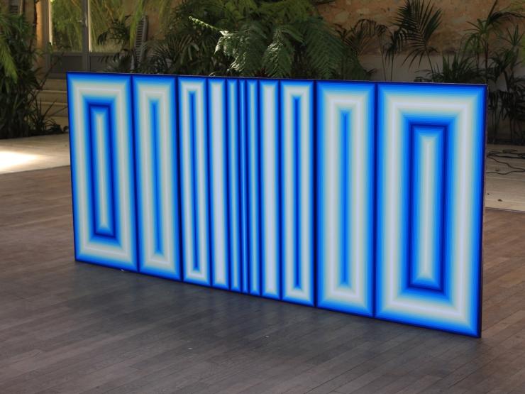 Triptyque Séquence chromatique - Acrylique sur toile 270X116 cm