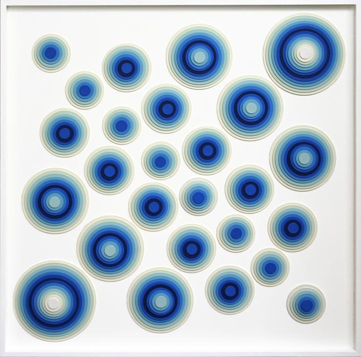 Effervescence - Acrylique et carton contrecollé sur MDF, 64X64 cm