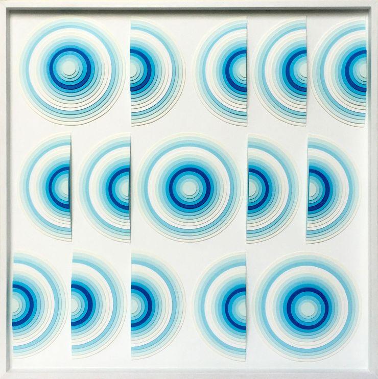Variation III - Acrylique et carton contrecollé sur MDF, 54X54 cm