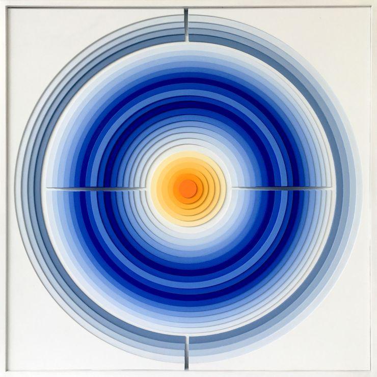 Circle 1 - Acrylique et carton contrecollé sur MDF, 62X62 cm